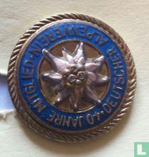 Deutsche Alpenverein 40 Jahre Mitglied