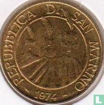 """San Marino 20 lire 1974 """"rivierkreeft"""""""
