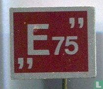 """""""E75"""" [rood]"""