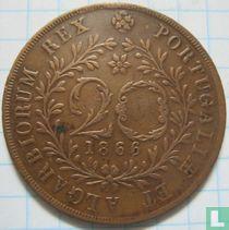 Azores 20 reis 1866