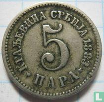 Servië 5 para 1883