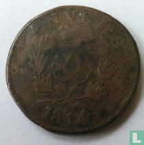 Antwerpen 10 centimes 1814 (R)