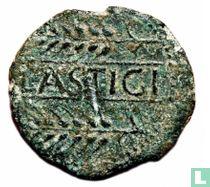 Lastigi, Spanje - (Keltisch) Romeinse Rijk  AE27 (As)  150-50 BCE