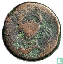 Akragas, Sicile  AE22 Tetras  425-406 BCE