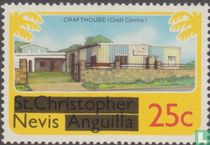 Zegels van St. Kitts_Nevis met opdruk