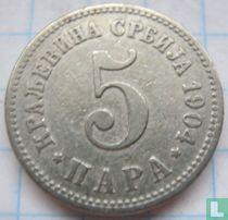 Servië 5 para 1904