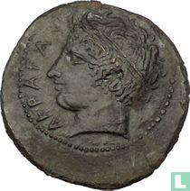 Akragas, Sicile  AE27, Hemilitron  400-380 avant notre ère