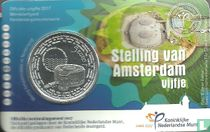 """Netherlands 5 euro 2017 (coincard-first day of issue) """"Stelling van Amsterdam"""""""