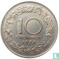 Austria 10 groschen 1928
