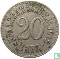 Servië 20 para 1912