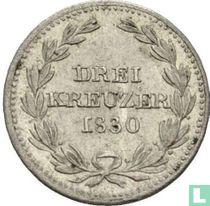 Baden 3 kreuzer 1830