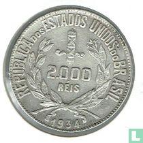 Brazilien 2000 Réis 1934