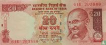 India 20 Rupees 2016 (A)