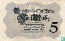 Reichsschuldenverwaltung, 5 Mark 1914 (B)
