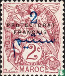 Type Blanc, surcharged