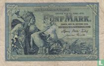 Reichsschuldenverwaltung, 5 Mark 1904 (B)