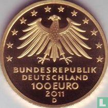 """Duitsland 100 euro 2011 (PROOF - D) """"Wartburg Castle"""""""