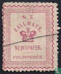 Chemins de fer timbres de journaux