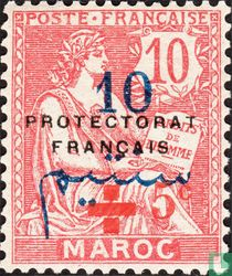 Type Mouchon, surcharged