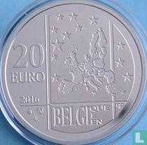 """Belgium 20 euro 2016 (PROOF) """"Commission for Relief in Belgium"""""""