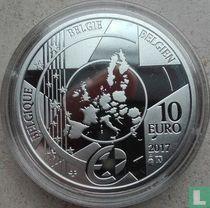 "Belgium 10 euro 2017 (PROOF) ""Antwerp Central Station"""
