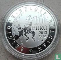 "België 10 euro 2012 (PROOF) ""Paul Delvaux - 30 years St. Idesbald Museum"""