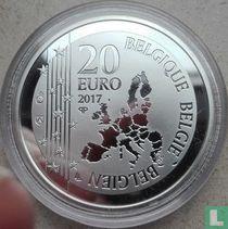 """Belgium 20 euro 2017 (PROOF) """"Toots Thielemans"""""""