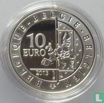 """Belgium 10 euro 2013 (PROOF) """"Hugo Claus"""""""