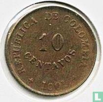 Colombia 10 centavos 1901 Leprosarium