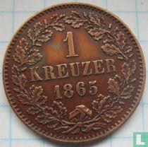 Baden 1 kreuzer 1865