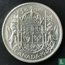 Canada 50 cents 1945