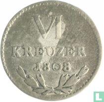 Baden 6 kreuzer 1808