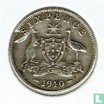 Australië 6 pence 1940