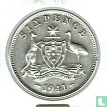 Australië 6 pence 1941