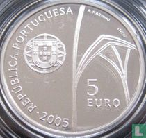 "Portugal 5 euro 2005 (PROOF) ""Monastery of Batalha"""