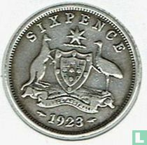 Australië 6 pence 1923
