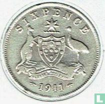 Australien 6 Pence 1911