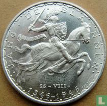 """Luxemburg 100 francs 1946 """"600th anniversary Death of John the Blind"""""""