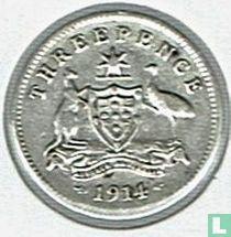 Australien 3 Pence 1914