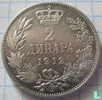 Servië 2 dinara 1912