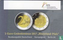 """Duitsland 2 euro 2017 (coincard - A) """"Rheinland - Pfalz"""""""