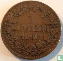 Baden 1 kreuzer 1866