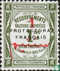 Recouvrements, with overprint