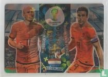 Arjen Robben en Robin van Persie