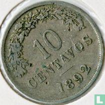 Bolivia 10 centavos 1892