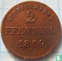 Beieren 2 pfenning 1869