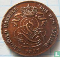 België 2 centimes 1857