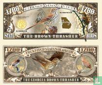 Brown Thrasher Georgia - vogel biljet