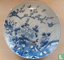 ARITA Schaal Blauw-Wit 45 cm