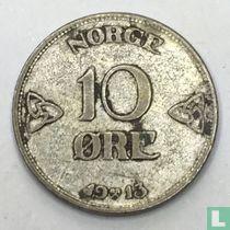 Norwegen 10 Øre 1913